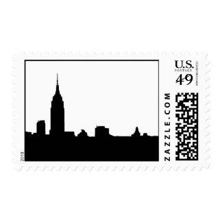 Black White Pop Art New York Silhouette Postage