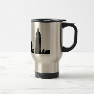 Black & White Pop Art New York Travel Mug