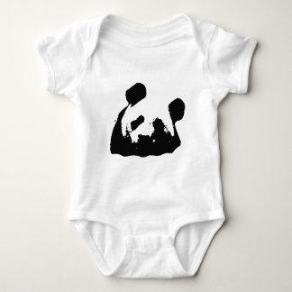 Black White Pop Art Panda Baby Bodysuit