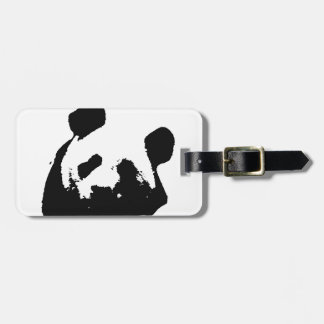 Black White Pop Art Panda Bag Tag