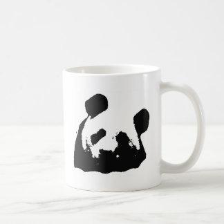 Black White Pop Art Panda Coffee Mug