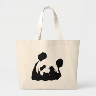 Black White Pop Art Panda Jumbo Tote Bag