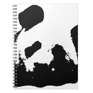 Black White Pop Art Panda Notebook