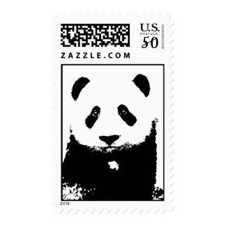 Black & White Pop Art Panda Postage