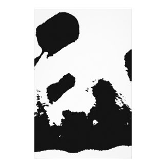 Black White Pop Art Panda Stationery