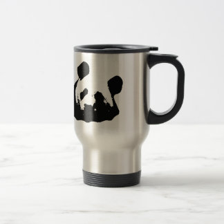 Black White Pop Art Panda Travel Mug