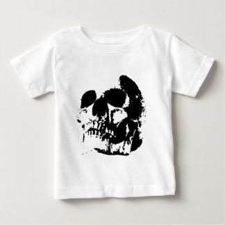 Black & White Pop Art Skull Baby T-Shirt