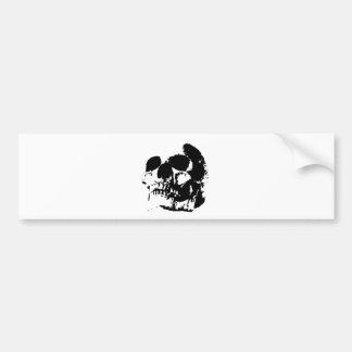 Black & White Pop Art Skull Bumper Stickers