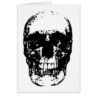 Black & White Pop Art Skull Card