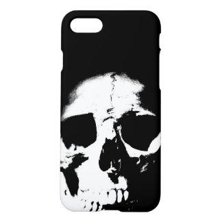 Black & White Pop Art Skull iPhone 7 Case