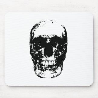 Black & White Pop Art Skull Mouse Pad