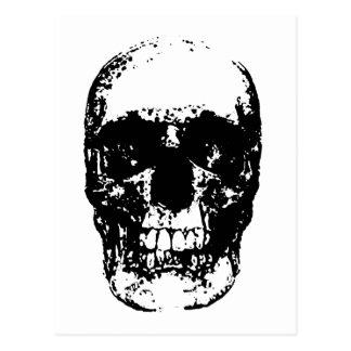 Black & White Pop Art Skull Postcard