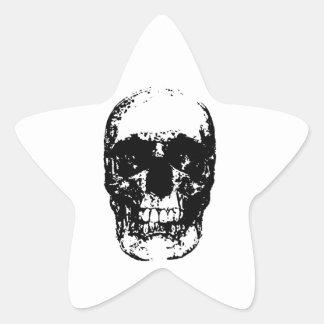 Black & White Pop Art Skull Star Sticker