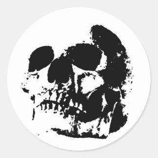 Black White Pop Art Skull Stickers