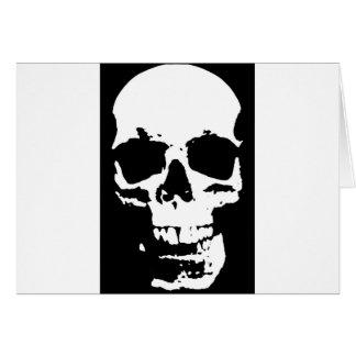 Black & White Pop Art Skull Stylish Cool Card