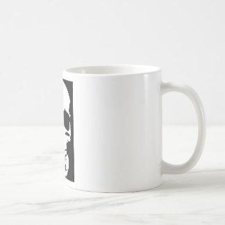 Black & White Pop Art Skull Stylish Cool Coffee Mug