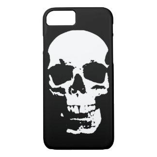 Black & White Pop Art Skull Stylish Cool iPhone 7 Case