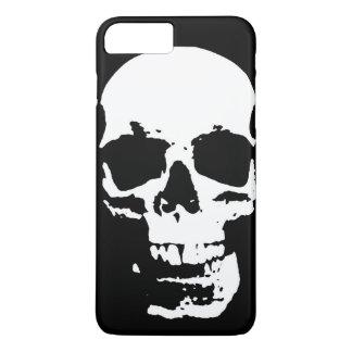 Black & White Pop Art Skull Stylish Cool iPhone 8 Plus/7 Plus Case