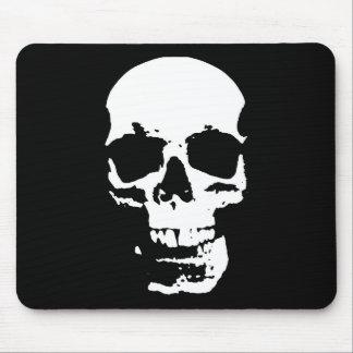 Black & White Pop Art Skull Stylish Cool Mouse Pad