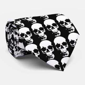 Black & White Pop Art Skull Stylish Cool Neck Tie