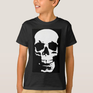 Black & White Pop Art Skull Stylish Cool T-Shirt