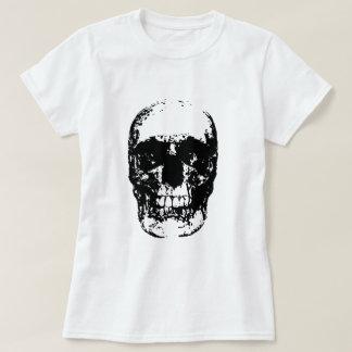 Black & White Pop Art Skull T-Shirt