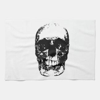 Black & White Pop Art Skull Towel