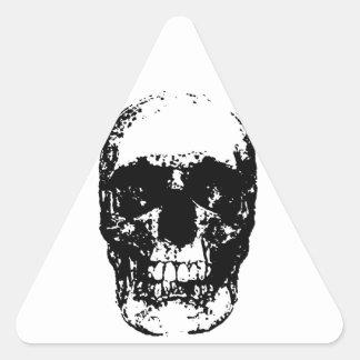 Black & White Pop Art Skull Triangle Sticker