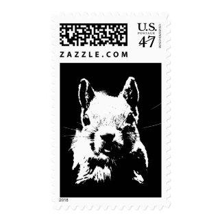 Black White Pop Art Squirrel Postage