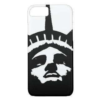 Black White Pop Art Statue Liberty iPhone 7 Case