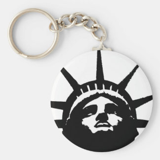 Black & White Pop Art Statue of Liberty Keychain