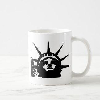 Black & White Pop Art Statue of Liberty Coffee Mug