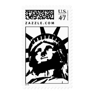 Black & White Pop Art Statue of Liberty Postage