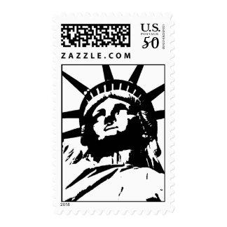 Black & White Pop Art Statue of Liberty Postage