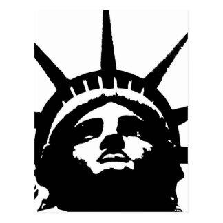 Black & White Pop Art Statue of Liberty Postcard