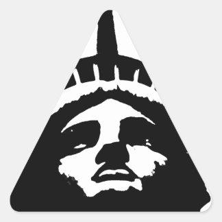Black White Pop Art Statue of Liberty Stickers