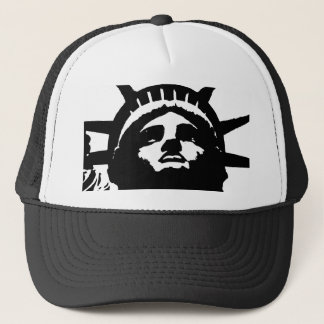 Black & White Pop Art Statue of Liberty Trucker Hat