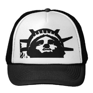 Black & White Pop Art Statue of Liberty Trucker Hat