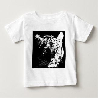 Black & White Pop Art Tiger Baby T-Shirt