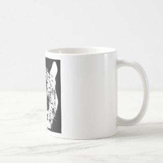 Black & White Pop Art Tiger Coffee Mug