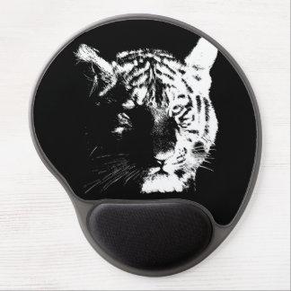 Black & White Pop Art Tiger Gel Mouse Pad