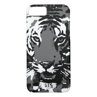 Black White Pop Art Tiger iPhone 7 Case