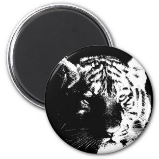 Black & White Pop Art Tiger Magnet