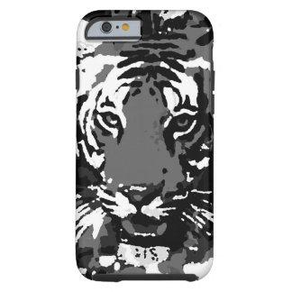 Black White Pop Art Tiger Tough iPhone 6 Case