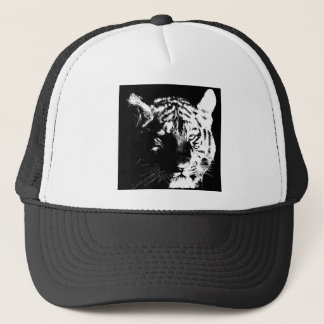 Black & White Pop Art Tiger Trucker Hat