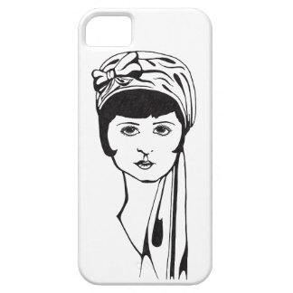 Black/White Portrait Phone Case (solid)