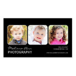 Black & White Portrait Photographer Business Card