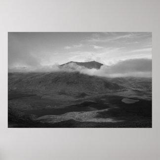 Black & White Poster of Mount Brandon, Kerry