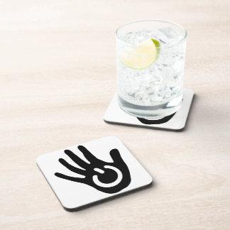 Black & White Power Hand Beverage Coaster