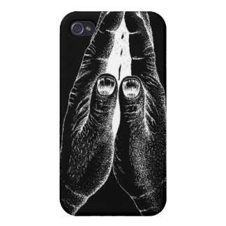 Black & White Praying Hands iPhone 4/4S Case-Mate Case For iPhone 4